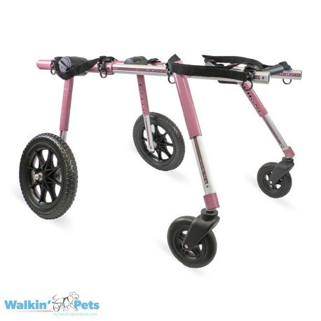 Large Fully Supportive Dog Wheelchair Pink Angle